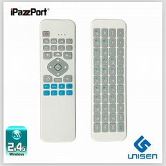 iPazzPort 六轴飞鼠迷你无线红红外学习键盘遥控器