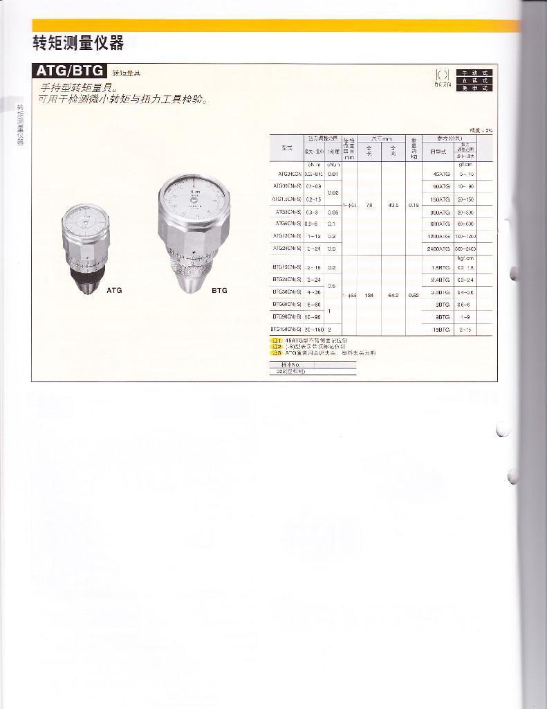 TOHNICHI東日扭矩測量儀 ATG/BTG 4