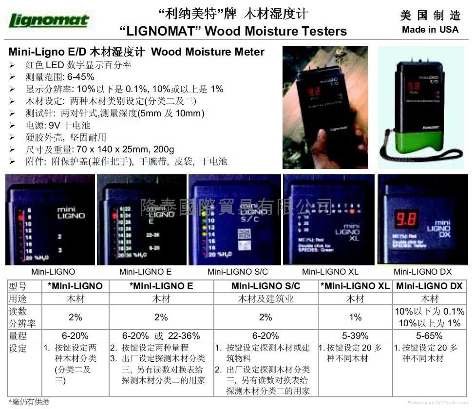 美国 LIGNOMAT 湿度计Mini-LIGNO DX