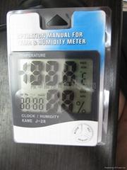 KAME J-28溫濕度計.時鐘 三用計