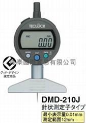 日本得樂TECLOCK電子/數顯深度計深度表DMD-210J