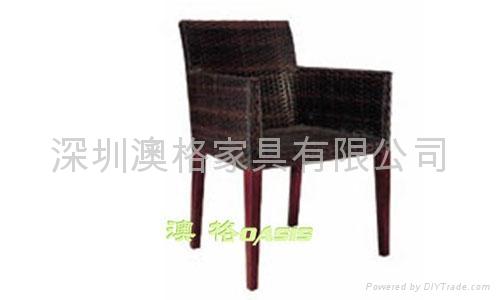 专业生产户外藤椅,编藤扶手椅 1