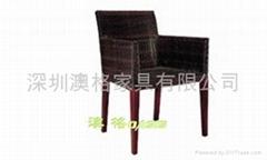 专业生产户外藤椅,编藤扶手椅