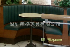 時尚西餐廳卡座沙發