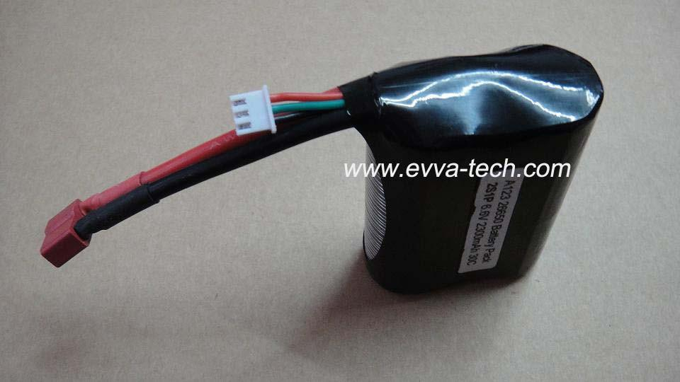 A123 26650 6.6V 2300mAh Battery pack for RC Hobbies