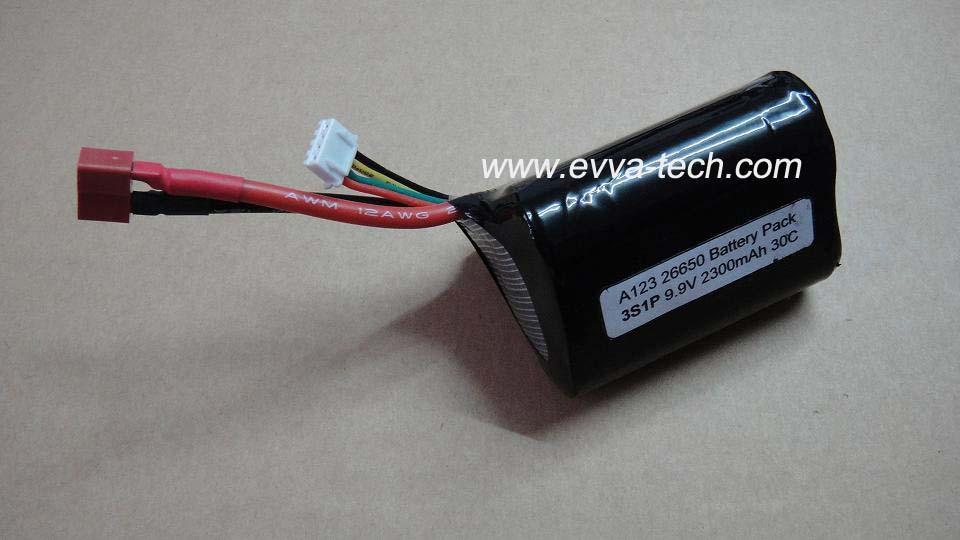 A123 26650 9.9V 2300mAh Battery pack for RC Hobbies