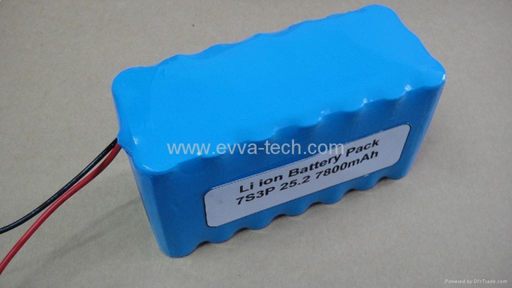 7S3P 25.9V 7800mAh 18650 li-ion Battery Pack