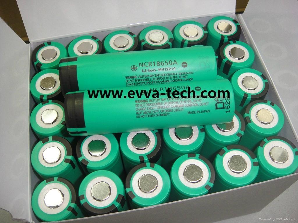 Lithium ion battery 18650 3.1Ah Panasonic NCR18650A 3100mAh