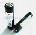 Li ion rechargeable Flashlight Battery 18650 2800mAh with protection