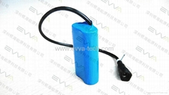 1S2P 3.7V 6.8Ah 18650 batteries for Bike lighting