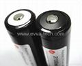 EVVA 18650 3400mAh Button top flashlight Batteries
