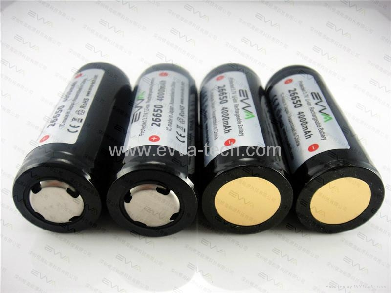 Rechargeable battery for torch 26650 4000mAh