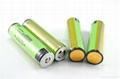 Transparent 18650 Flashlight Batteries Panasonic NCR18650B 3400mAh