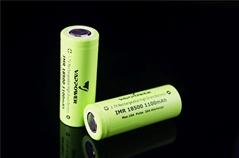 20A high drain 18500 battery VAPPOWER IMR 18500 3.7V 1100mAh