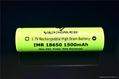 Vappower IMR18650-15 1500mAh 35A high drain 18650 battery