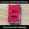 8.5Wh Panasonic NCA103450 With Breaker 2350mAh AKKU 103450 Lithium ion battery