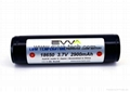 Protected 3.7V flashlight 18650 LOW TEMPERATURE battery with Panasonic NCR18650F