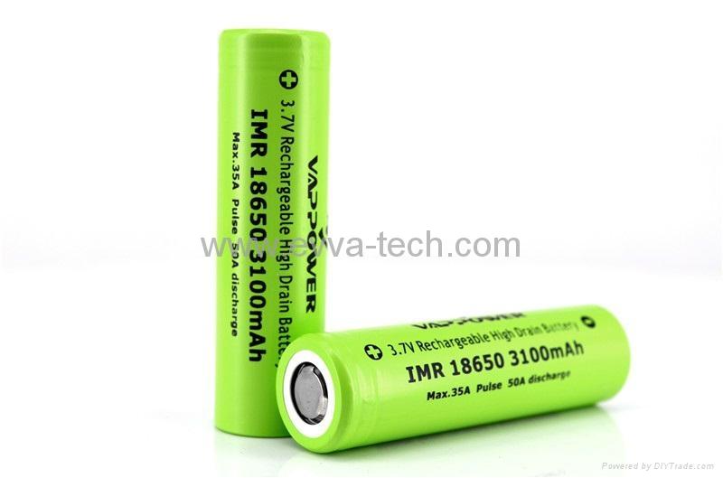 Vappower IMR18650-31 3100mAh 35A high power  battery for E-cigarette