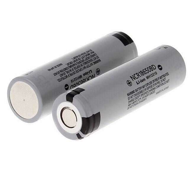 Panasonic NCR18650BD 3200mAh 20A 3.7v lithium battery flat top for Led flashligh