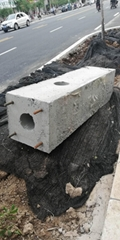 监控照明工程施工用水泥线杆底座