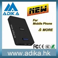 Dual USB 10000mAh Power Bank for Iphones, Mobile Phones/MP3/MP4 Players/Digital