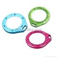 Aluminum lanyard ring mount for GoPro Hero 2, blue, green, pink