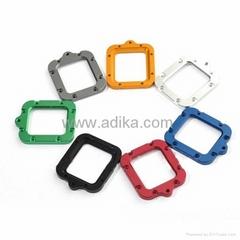 Aluminum lanyard ring mount for GoPro Hero 3, blue, green, red, orange, silver