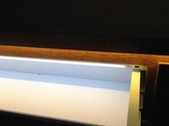 Inner cabinet light with door contact sensor