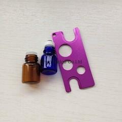 金属铝精油瓶开瓶器钥匙扣