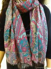 Jacquard acrylic scarves