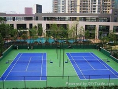 籃球網球羽毛球足球場塑膠跑道等體育工程施工材料