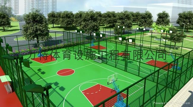 籃球網球羽毛球足球場塑膠跑道等體育工程施工材料 3