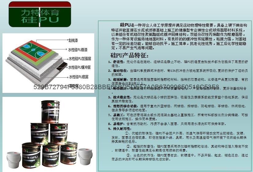 湖南長沙籃球場網球場塑膠跑道材料 2