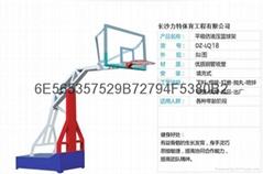 湖南力特體育供應移動式地埋式籃球架