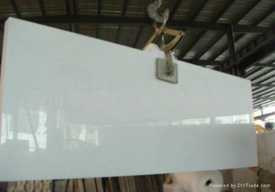 白色 大理石水晶白四川白 台面板大板薄板 1