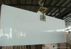 白色 大理石水晶白四川白 台面板大板薄板