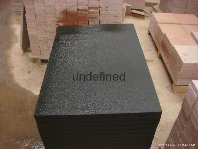 雅蒙黑石材四川黑石材光面燒面荔枝面毛板 3