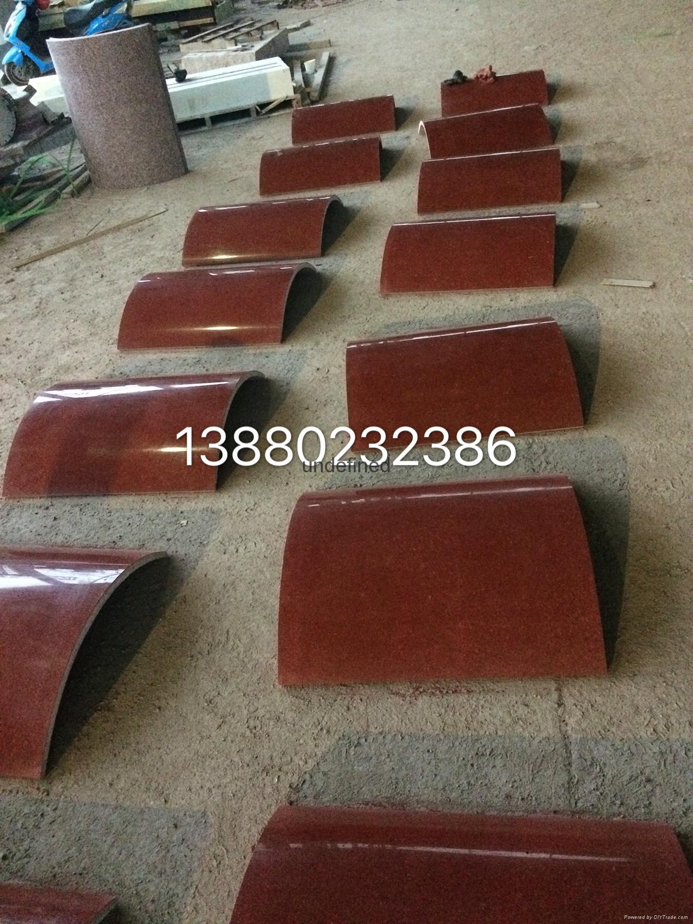中国红四川红三合红石材光面烧面荔枝面 2