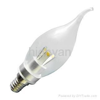 360 degree E14 3w led candle bulb 3