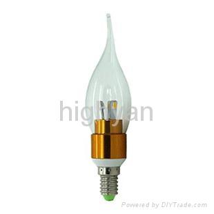 360 degree E14 3w led candle bulb 4