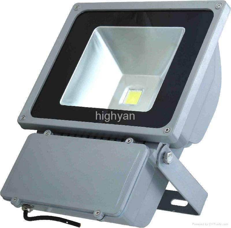 70~100W COB IP65 LED flood light 2