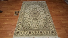 Factory price hand knotted wool and silk rugs
