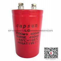 2200UF400Vcapacitance,decreasing temperature