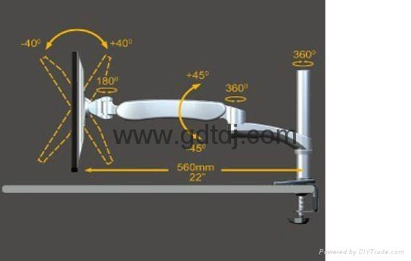 萬向延伸旋轉顯示器支架 昇降調節電腦挂架DMAG-600A 4