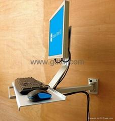 鍵盤顯示器壁挂架 鼠標鍵盤挂架 顯示器鍵盤支架