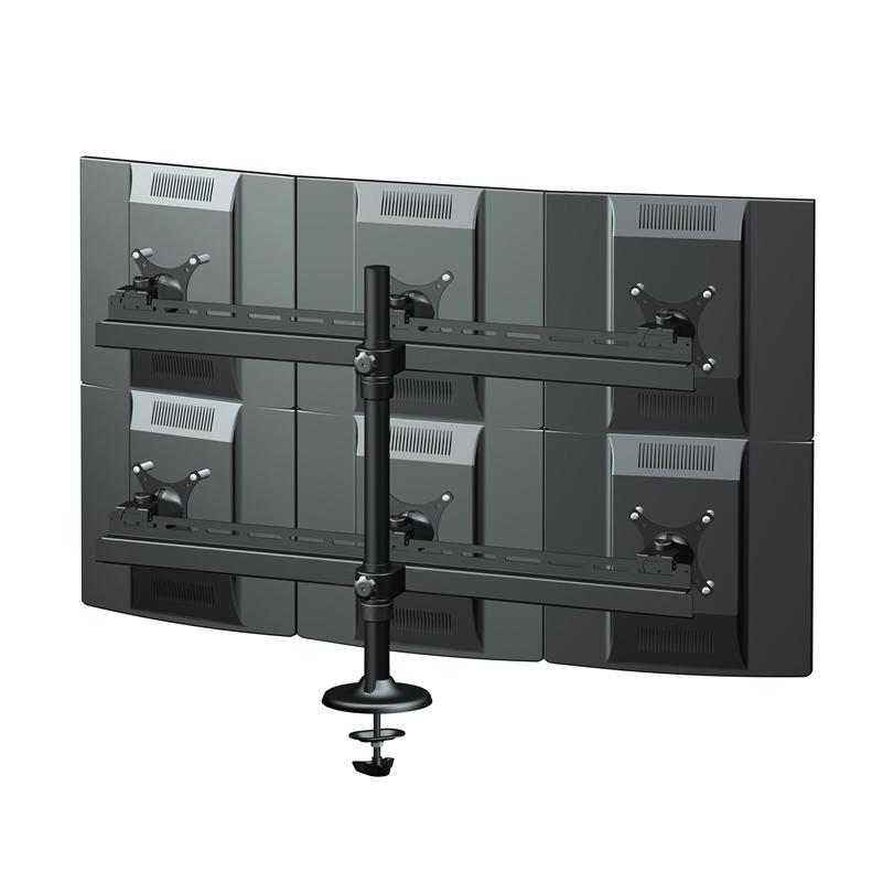 """14""""-19""""六屏顯示器支架 証券電腦挂架 多屏電腦支架 5"""