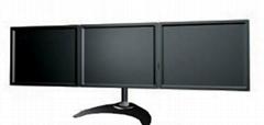 三屏显示器支架  多屏电脑挂架 证券炒股电脑支架
