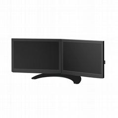 两屏电脑挂架  多屏显示器支架  炒股证券支架