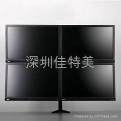 四屏显示器支架  万向旋转电脑挂架 桌面电脑支架