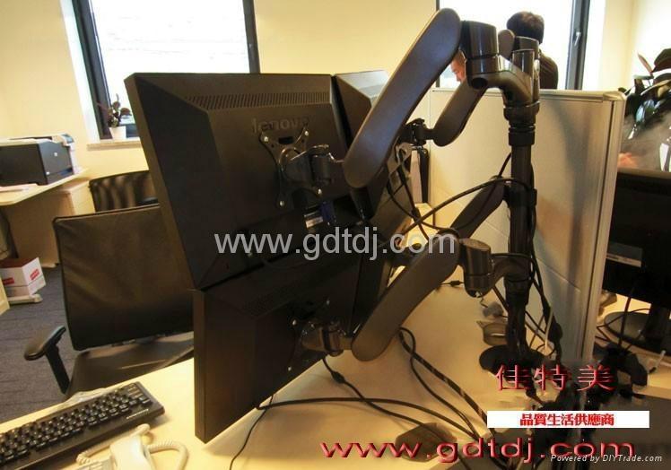 豪華四屏電腦挂架 辦公顯示器支架 昇降調節電腦支架 2